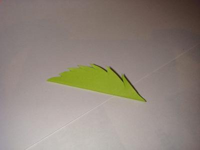 Kağıttan Yaprak Yapımı Resimli Anlatım-2