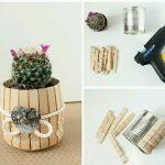 Konserve Kutusu ve Mandaldan Çiçek Saksısı Yapımı
