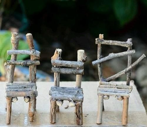 Ağaç Dalından Minyatür Sandalye Yapımı-1