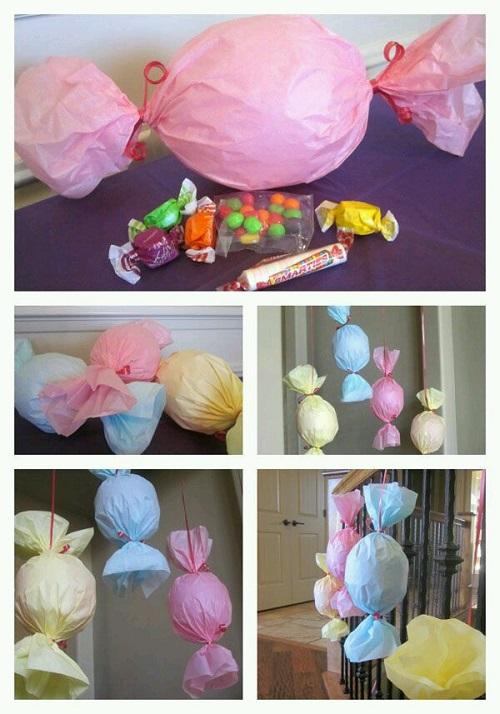 Balondan Şeker Şeklinde Süsleme Yapımı