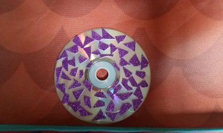 Cd ile Mozaik Desenli Dekoratif Süs Yapımı