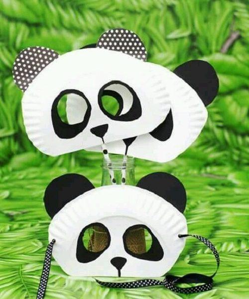 Kağıt Tabaktan Panda Maske Yapımı