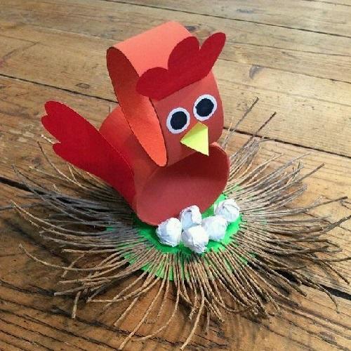Kartondan Tavuk Yapımı