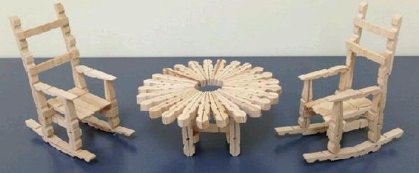 Mandaldan Masa ve Sandalye Yapımı