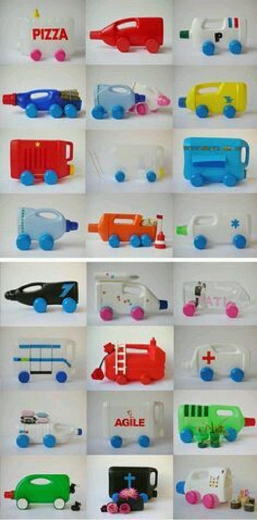 Plastik Şişelerden Nasıl Oyuncak Araba Yapılır