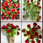 Plastik Kapaklardan Yapay Çiçek Yapımı