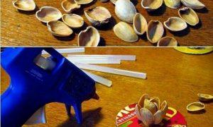 Antep Fıstığı Kabuğundan Çiçek Yapımı