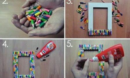 Boya Kalemlerle Resim Çerçevesi Yapımı