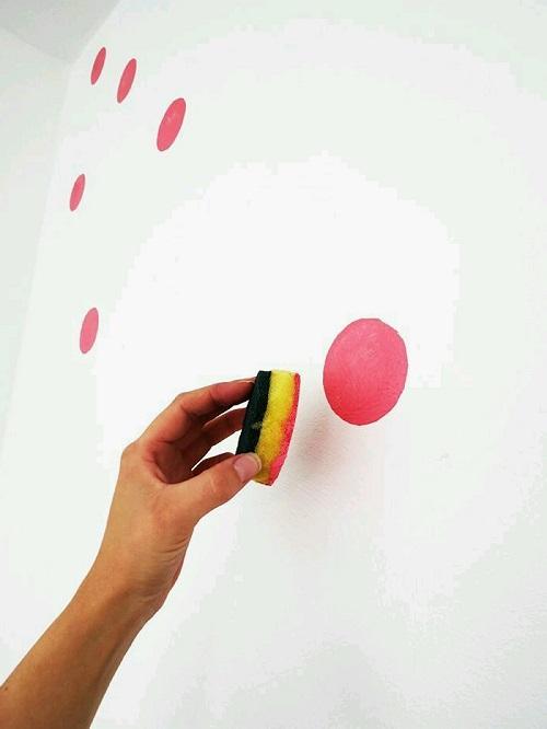 Duvara Puantiye Deseni Yapımı-3