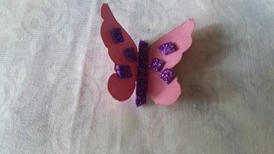 Fon Kartonundan Kelebek Yapımı