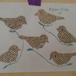 Gazete Kağıdından Kuşlu Pano Yapımı