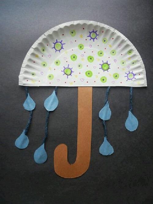 Kağıt Tabaktan Şemsiye Yapımı