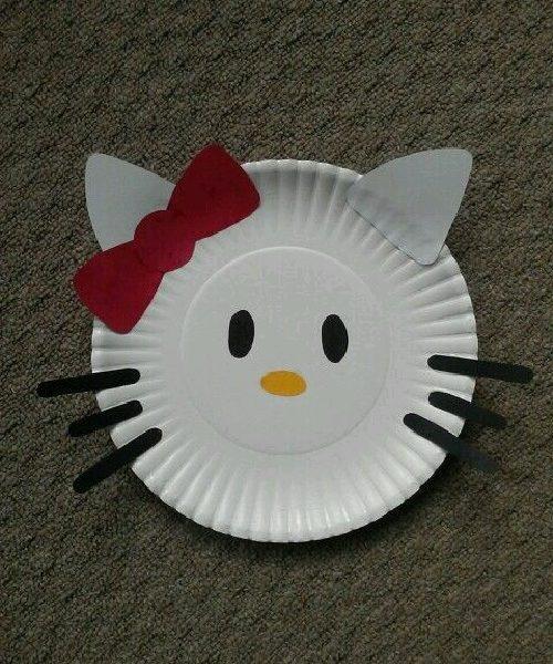 Karton Tabaktan Hello Kitty Yapımı