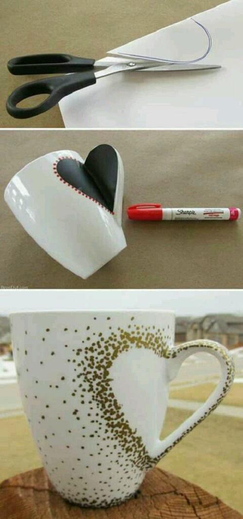 Porselen Kupaya Kalp Deseni Yapımı Resimli Anlatım