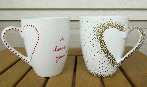Porselen Kupaya Nasıl Kalp Deseni Yapılır
