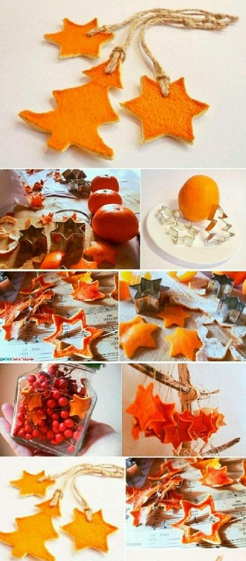 Portakal Kabuğundan Dekoratif Süs Yapımı Resimli Anlatım