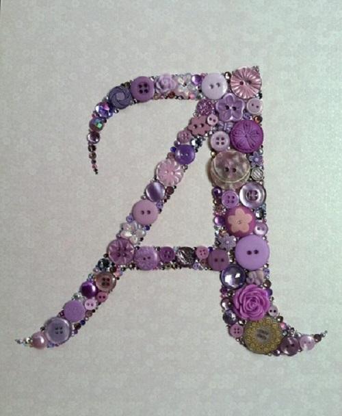 Düğmeden Dekoratif Harf Yapımı