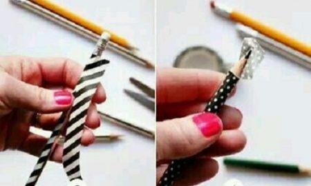 Desenli Bant ile Kalem Süsleme Resimli Anlatım