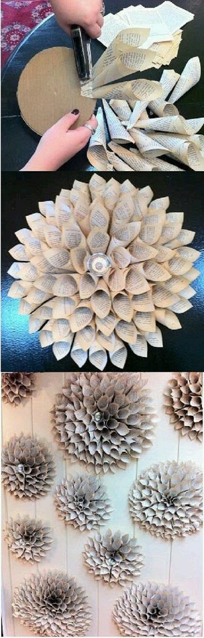 Gazete Kağıdından Külah Çiçek Yapımı