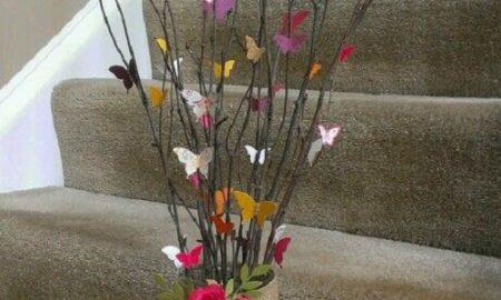 Kelebekli Dekoratif Ağaç Dalı Yapımı