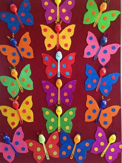 Plastik Kaşıklarla Kelebek Yapımı-1