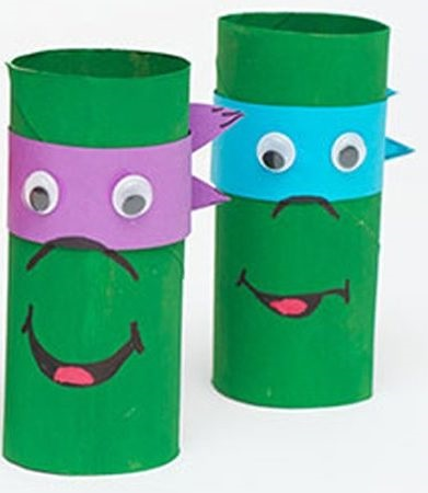 Tuvalet Kağıdı Rulosundan Ninja Kaplumbağa