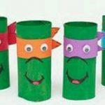 Tuvalet Kağıdı Rulosundan Ninja Kaplumbağa Yapımı