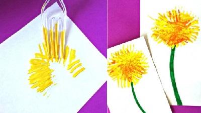 Çatalla Çiçek Yapımı