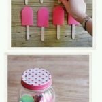 Fon Kartonu ile Çubuklu Dondurma Yapımı