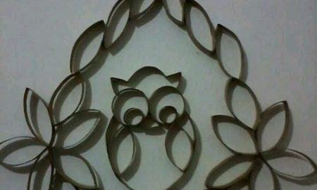Kartondan Baykuşlu Duvar Süsü Yapımı