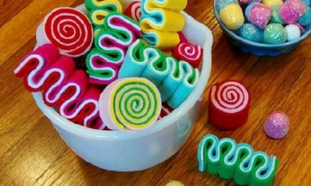 Keçeden Dekoratif Şeker Yapımı