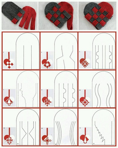 Keçeden Kalpli Bardak Altlığı Resimli Anlatım