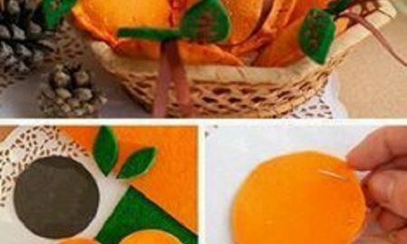 Keçeden Portakal Yapımı