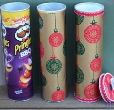Pringles Kutusundan Saklama Kabı