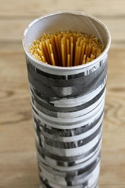 Pringles Kutusundan Spagetti Saklama Kabı