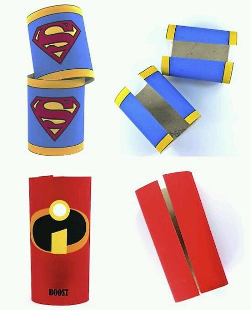 Tuvalet Kağıdı Rulosundan Kahraman Bilekliği Yapımı
