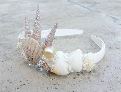 Deniz Kabukları ile Taç Süsleme-3