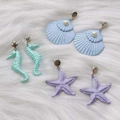 Deniz Kabuklarından Küpe