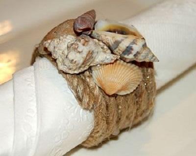 Deniz Kabuklarından Peçete Halkası-1