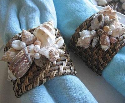 Deniz Kabuklarından Peçete Halkası-2