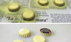 Gazoz Kapağından Emojili Magnet Yapımı