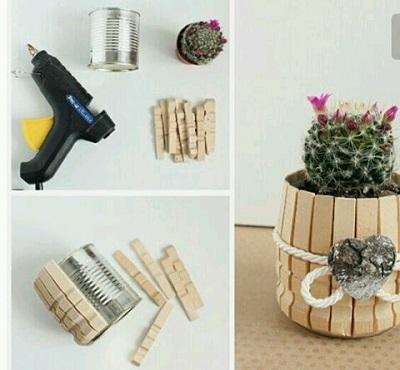 Mandal ile Çiçek Saksısı Yapımı Resimli Anlatım