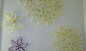 Tuvalet Kağıdı Rulosundan Renkli Dekoratif Süs Yapımı