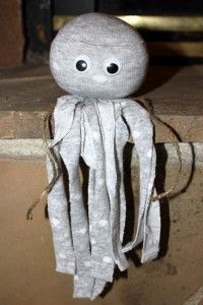 Eski Çoraptan Ahtapot Yapımı-3