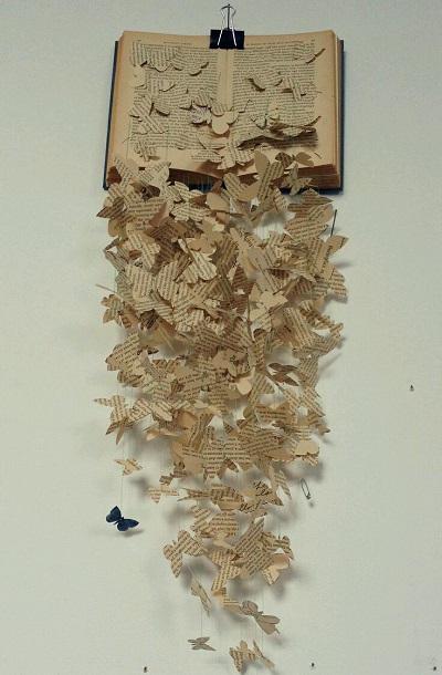Eski Kitaplardan Dekoratif Süs-1