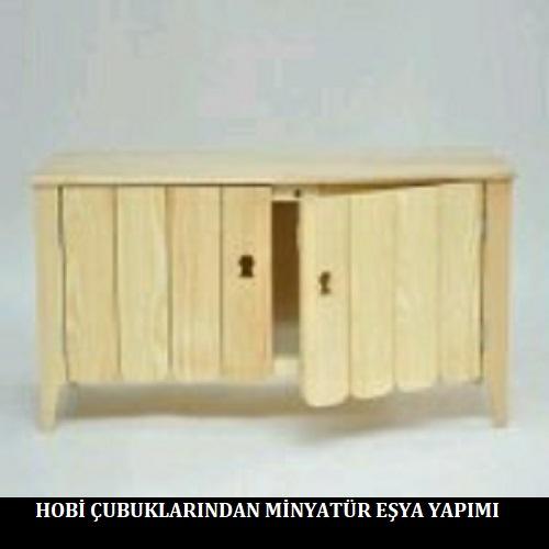 Hobi Çubuklarından Minyatür Eşya Yapımı