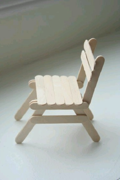 Hobi Çubuklarından Sandalye