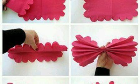 Kağıt Peçeteden Dekoratif Çiçek Yapımı