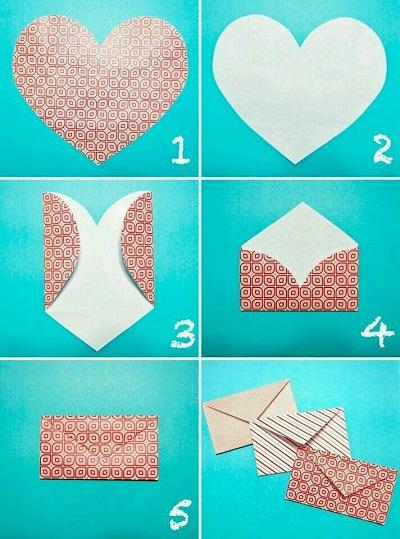 Kağıttan Zarf Yapımı Resimli Anlatım