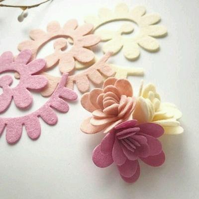 Keçe Çiçek Kalıpları ile Çiçek Yapımı-3